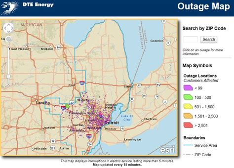 interactive map dte energy power outages