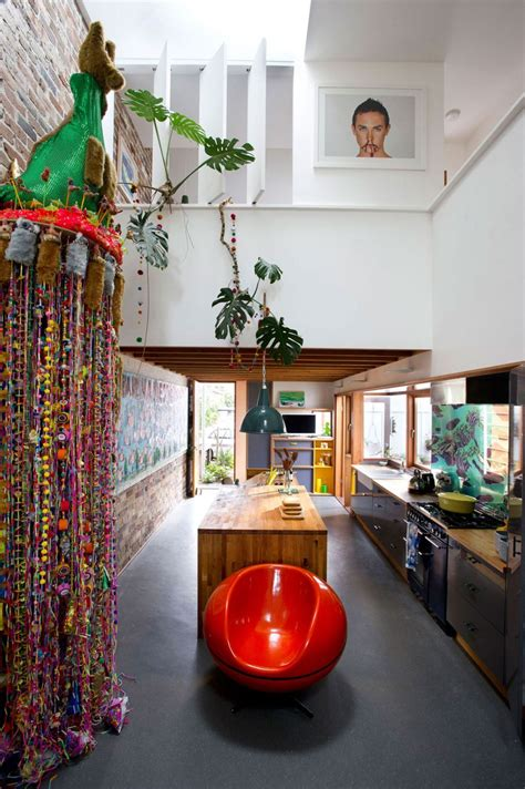 colorful decor eclectic sydney house presents colorful and quirky interiors