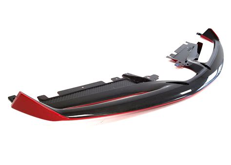 """The custom design will enliven your car's overall appearance and set it apart from ordinary models. Best Exhaust - Sforza Ferrari 488 Carbon Front Spoiler - Pastel """"Red Scuderia"""" SF/C/86975110/488"""