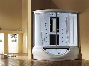 Interesting Limited Space Bathroom Design With Jacuzzi