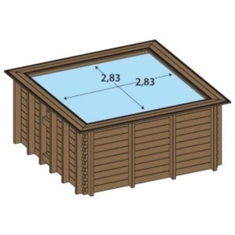 piscine hors sol bois carre piscine bois hors sol carr 233 e maeva 3x3m