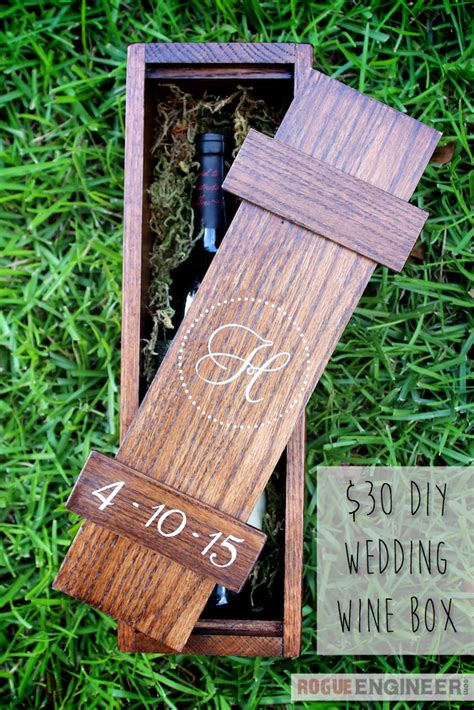 diy wedding wine box rogue engineer diy plans diy