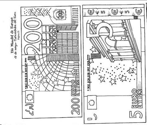 Kleurplaat Briefgeld by Printable Euros Learningenglish Esl
