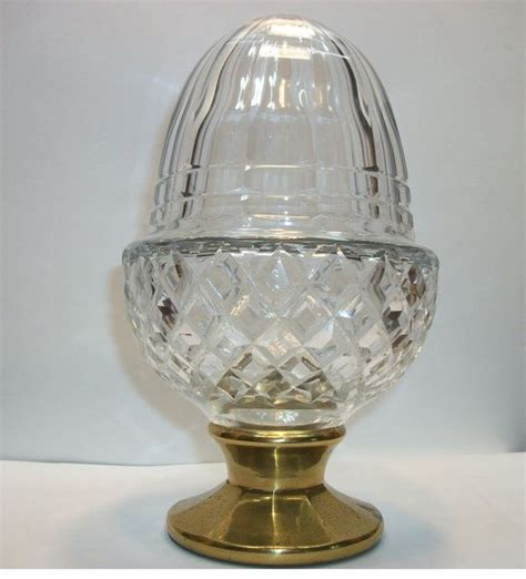 crystal acorn staircase banister finial large