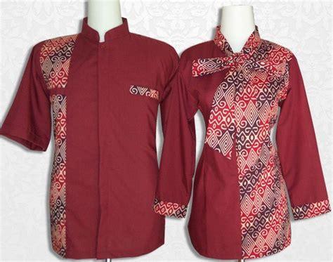 blouse bordir 1 10 model baju batik kantor kombinasi polos terkini 1000