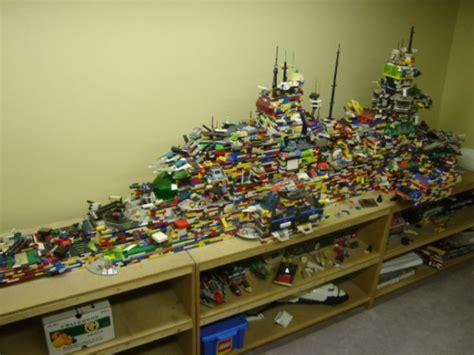Giant Lego Ship Sculpture