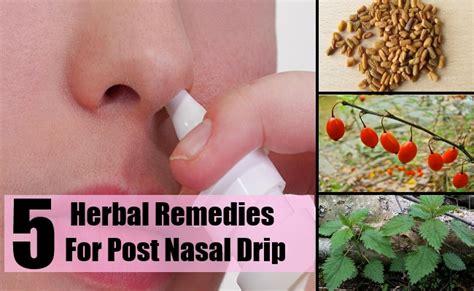 effective herbal remedies  post nasal drip problems
