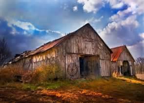 Old Farmhouse with Barn