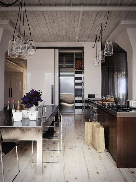 Modern Industrial Rustic Kitchen  La Cocina Pinterest