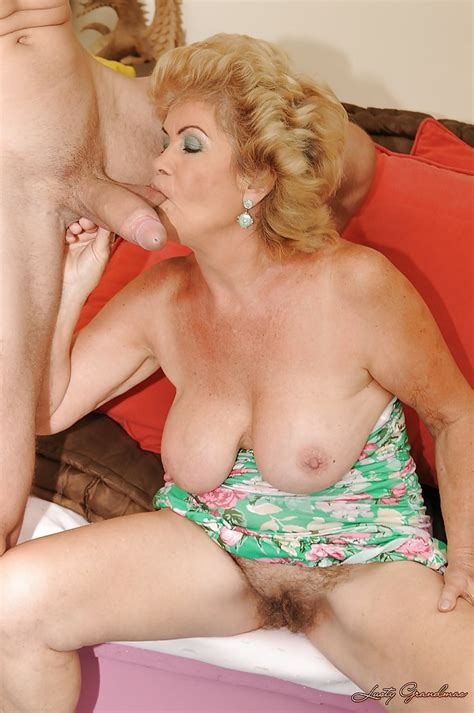 busty granny gives a blowjob and gets her hairy cunt drilled hardcore
