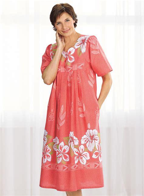border print patio dress amerimark