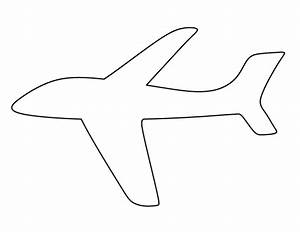airplane pattern use the printable outline for crafts With cut out airplane template