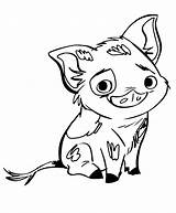 Pig Pua Coloring Printable sketch template