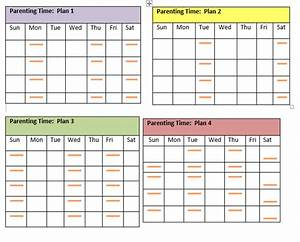 visitation schedule template fee schedule template With co parenting calendar template
