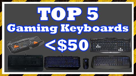 Top 5 Best Lowbudget Gaming Keyboards  Youtube