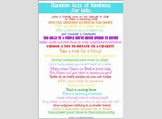 24 Random Acts of Kindness for Kids An Advent or