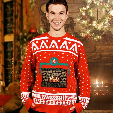 igly sweater crackling fireplace sweaters the