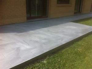 terrasse bton imprim great terrasse bton imprim quimper With terrasse beton avec motif