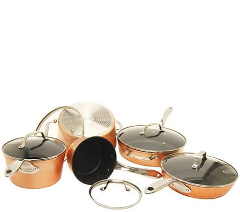 starfrit  piece copper cookware set qvccom