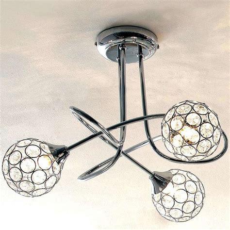 sphere 3 light chrome ceiling fitting living room