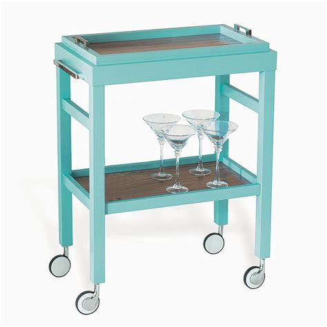 Rolling Bars For Home by Rolling Bar Cart With Removable Tray Top Pops Of Color