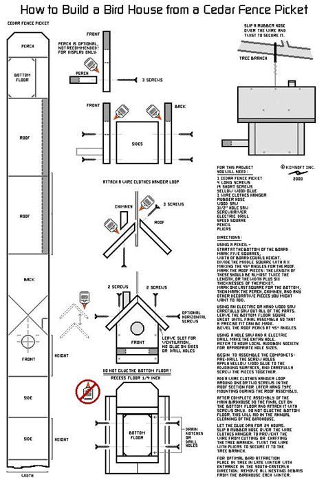 birdhouse design blue print cardinal bird house bird house plans bird house kits