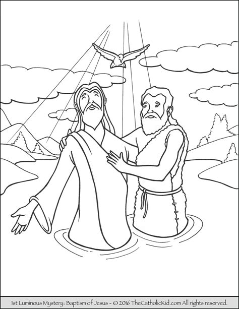 luminous mysteries rosary coloring pages  catholic kid