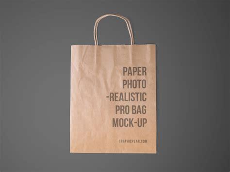 disposable paper bag mockup