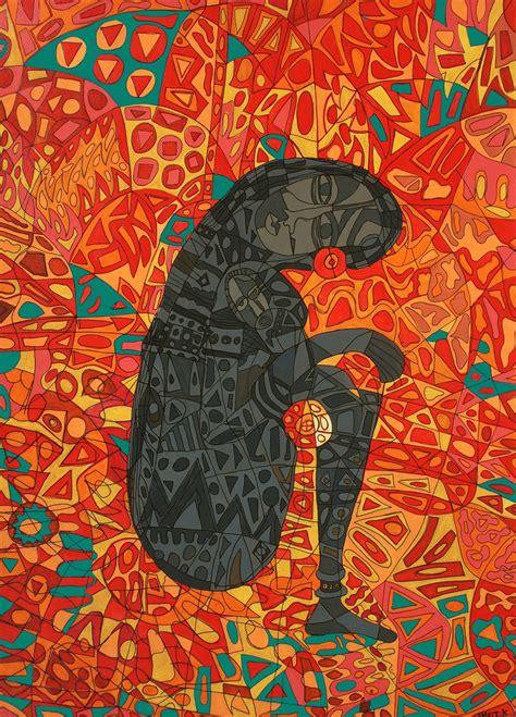 mother  child  artist amrit khurana expressionism