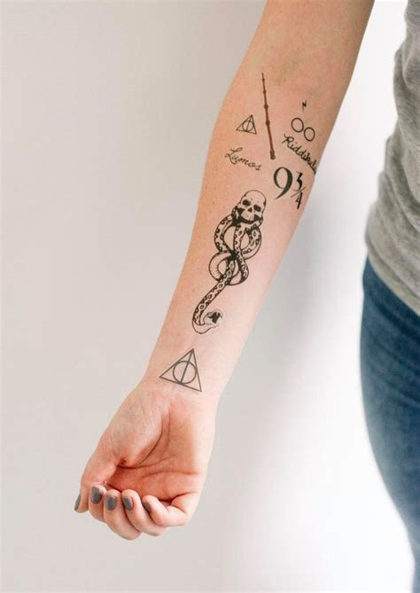 tatouages temporaires de harry potter smashtat par
