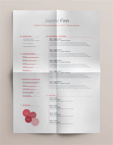 Free Resume Templates Docx by Best Free Clean Resume Templates In Psd Ai And Word Docx Format