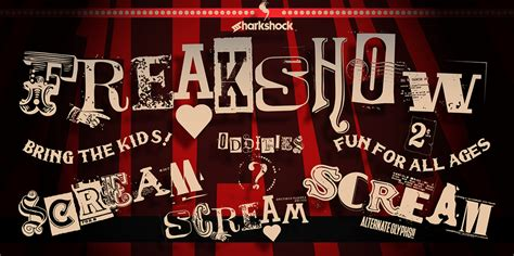 freakshow font befontscom