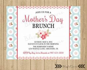 Mother's Day Brunch Invitation Mother's Luncheon