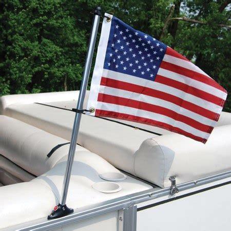 Pontoon Boat Flags pontoon flag pole socket with 24 pole and u s flag