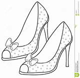 Coloring Pages Sandals Lady Heels Drawing Illustration Heel Shoes Hats Drawings Ladies Patterns Painting Adult Open sketch template