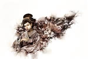 Japanese Geisha Girl Drawings