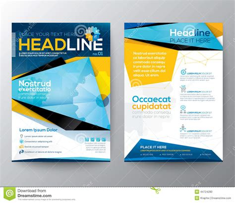 annual report cover in abstract design vector free abstract triangle design vector template layout for