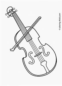 Musical Instrument Coloring Pages Print Out | Coloring ...