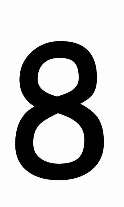 Number Clipart Numbers Number8 Cliparts Clipartmag Pngimg