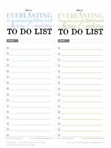 Free Printable to Do List Template