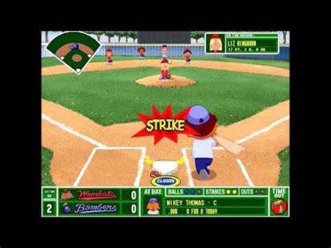 Backyard Baseball 1997 by Backyard Baseball 1997 Blue Bombers Vs Wombats Gm 2