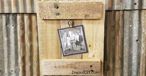 diy picture frame    pallet wood diva  diy