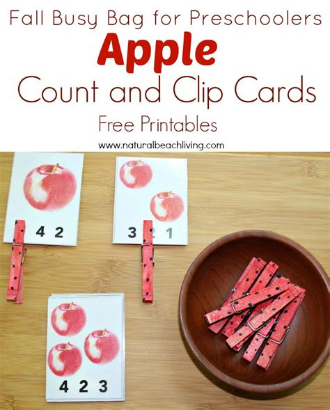 apple activities for preschoolers free printables 315 | appleclipcardspin1