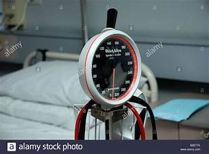 Blood Pressure Monitoring Equipment In A Hospital Ward