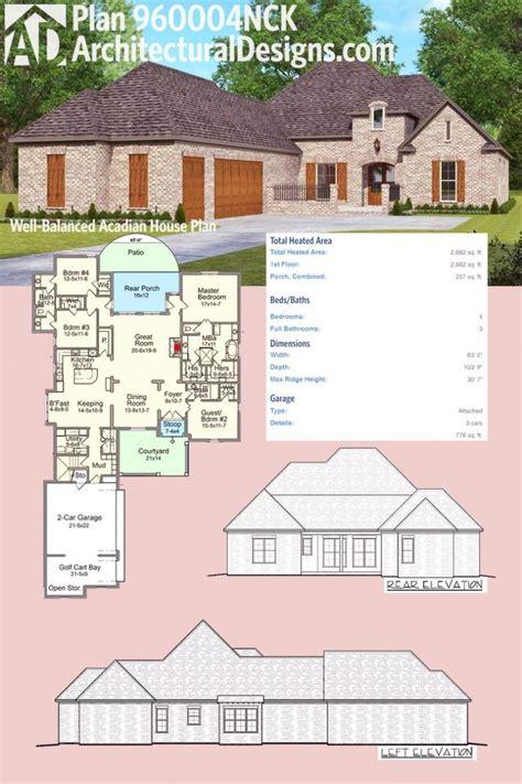 Home Design: Acadian Home Plans For Inspiring Classy Home