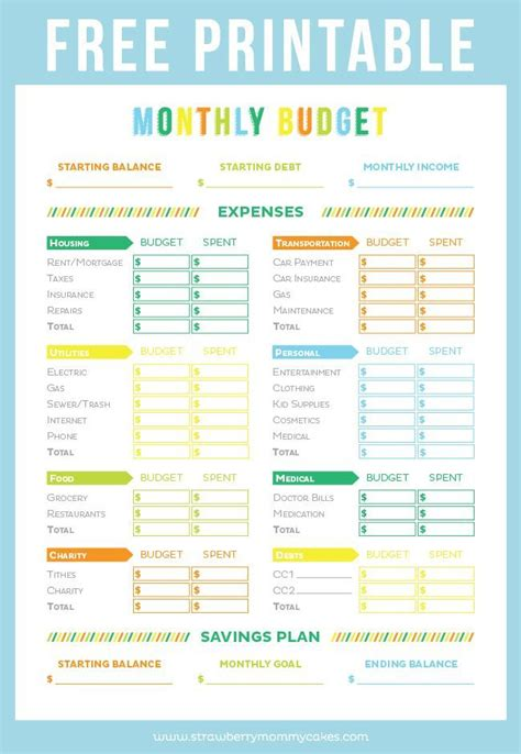 Sheets Budget Template Get Your Finances In Order With This Free Printable Budget