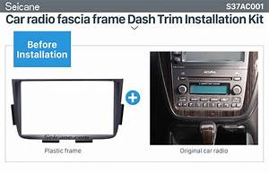 Black Double Din Car Radio Fascia For 2001 2002 2003 2004