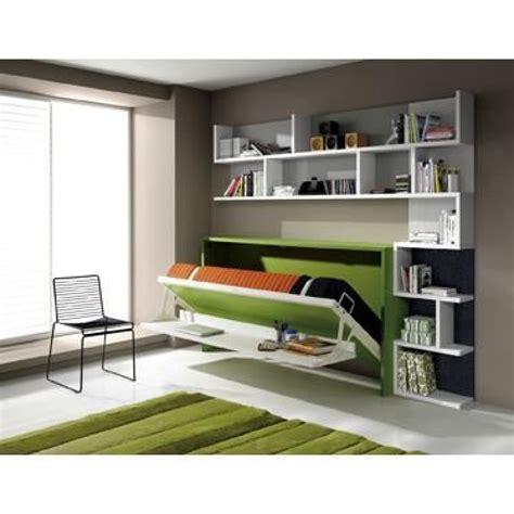 lit bureau pas cher armoire lit escamotable fleet avec bureau 90x190cm achat