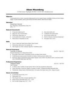 Exles Of Resumes For Internships by Resume For Internship 998 Sles 15 Templates How To Write