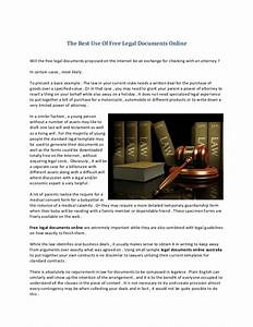 the best use of free legal documents online With free legal documents online